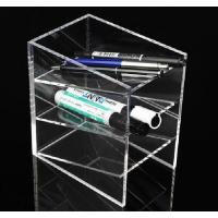 Transparent Custom Acrylic Products / Acrylic Pen Holder , Wall Mounted Manufactures