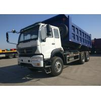 40 Ton Heavy Commercial Trucks White And Blue Sinotruk Golden Prince Manufactures