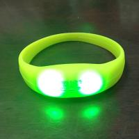 Amazing Glow Personalized Silicone Sound Motion Activated LED Light Up Bracelet Blinking Wristbands Bracelets in bulk custom Manufactures