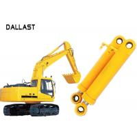 Heavy Duty High Pressure Hydraulic Cylinder Dual Stage For Industrial Crane Excavator Manufactures