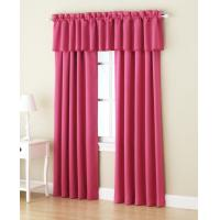 Valance / No Valance Pink Window Curtains 280CM Width PVC Bag Packing Manufactures