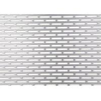 Slotted Hole Perforated Sheet , 3003 H14 Perforated Metal Sheet 0.3mm - 5mm Thickness Manufactures