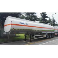 45000L Used Stainless Steel Tanker Trailers LINGYU Brand For Oil Transportation Manufactures