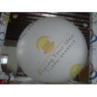 Large Helium Inflatable Advertising Balloons Fireproof 0.28mm Blank White PVC Manufactures