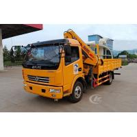 China 120HP Small Telescopic Crane , 4t Dongfeng Telescopic Boom Truck Mounted Crane on sale