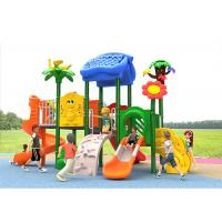 China Carton House Theme Plastic Play Structure With Slide Small Children Baby Kids for sale