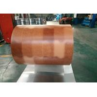 Printing Color Prepainted Galvalume Steel Coil 55% Wooden Brick Pattern Manufactures