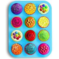 2016 eco-friendly food grade non-stick 12 cup silicone muffin pan cupcake maker Manufactures