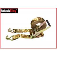 OEM Quick Release Polyester Ratchet Tie Down Strap With Ratchet Buckle Manufactures