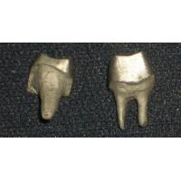 Yellow Gold PFM Dental Crown Lab Dental Post And Core Good Strength Manufactures