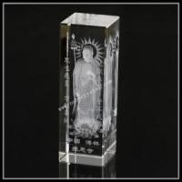 China 2 Inch Crystal Laser Engraving 3D Buddha Religious Gift on sale