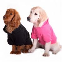 plain pink dog hoodie small dog puppies for sale pet clothes-pet clothing-dog