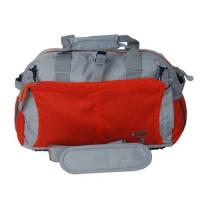 Fashion 600D polyester water-proof grey with red Overnight Travel Bags / luggage bag Manufactures
