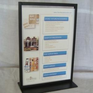 Easy Portability A4 Durable Metal Tabletop Display Stands Manufactures