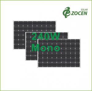 China 240W 27V Monocrystalline Solar Panels , 0 - 3% Positive Tolerance on sale