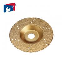 Gold Color Flat Vacuum Brazed Diamond Cup Wheel 22.23 Mm Hole For Marble Slab Manufactures