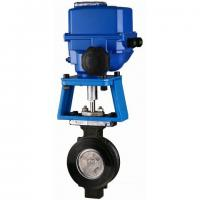 High Performance Electrically Actuated Butterfly Valves with Metal-seated Sealing 300lbs Manufactures