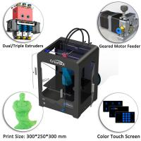Plastic Creatbot DX 3d Printer , Large Format 3d Printer 0.05 Mm Max Resolution Manufactures