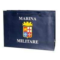 OEM Classic MARINA 250g Paper Carrier Bag With shining logo /cotton rope Manufactures