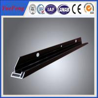 Anodized and Electrophoresis Black Aluminum Frame for PV Solar Module Assembly Manufactures