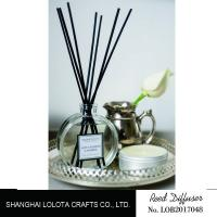 Decoration Office Home Reed Diffuser Transparent Round Glass Bottle For Gift Manufactures