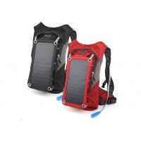 China Custom Solar Powered Laptop Backpack / Solar USB Charger Backpacking on sale