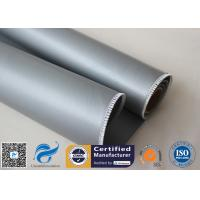 Oil Pipeline Insulation Silicone Coated Fiberglass Fabric Material 0.4 MM Thickness Manufactures