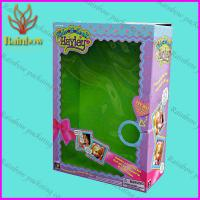 China Pretty Design Paper Box Packaging For Gift With PVC Window on sale