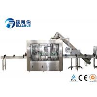Fully Auto Glass Bottle Filling Machine , Soda Water Small Bottling Machine Manufactures