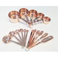 5pcs BPS Free stainless steel copper measuring cup and Spoons for daily use items Manufactures