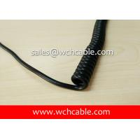 UL Curly Cable, AWM Style UL21535 28AWG 3C FT2 80°C 600V, PVC / TPU Manufactures