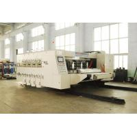 Alloy Steel Automatic Corrugated Box Making Machine , Steady Printing Manufactures