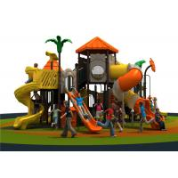 Large Yellow Outdoor Playground Equipment With Multi Slides Manufactures