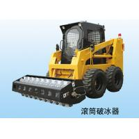 600kg Excavator / Backhoe Wheel Skid Steer Loader With Enclosed Cabin Manufactures