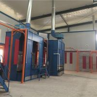 mini set manual spraying small powder coating line with booth oven in China Manufactures
