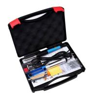 Quality Wire Soldering Iron Kit / Tool Adjustable Temperature 60W For Welding Green K016 for sale