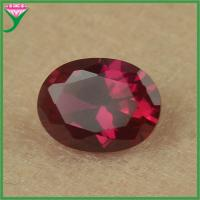 wholesale price aaa Quality 8 # color synthetic oval cut red ruby corundum gems Manufactures
