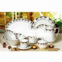 Porcelain/Ceramic Dinnerware Set, Includes Plate and Bowl Manufactures