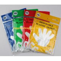 China biodegradable compostable Disposable gardening pe glove heat resistant food grade gloves,PE or poly gloves with embossed on sale