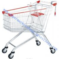 China Walmart Four Elevator Retail Shopping Trolleys With Coin Lock on sale