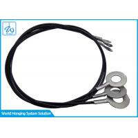Available Indoor And Outdoor Black PVC Coated Stainless Steel Wire Rope By Double-End  Eyes Manufactures