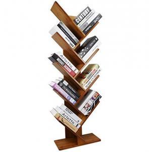 Point Of Sale Bamboo Display Unit 9 Shelf Tree Shaped Bookshelf Organizer Manufactures