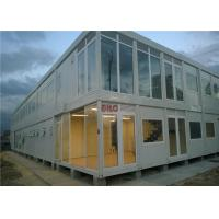 Industrial Flat Pack Container HouseLarge Glass Decoration Flat Pack Prefab House Manufactures