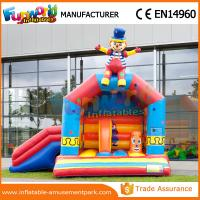 China Clown Red / Yellow Inflatable Bouncer Slide Mini Moonwalk Kids Jumping Castle on sale