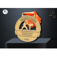 China Die Cast Sport Stock Medals Antique Gold / Silver / Copper Plating on sale