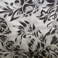 Dyed Polycotton Fabric 90% Polyester 10% Cotton 100gsm Black Flower Pattern Manufactures