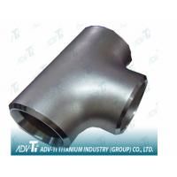 Quality Pure Titanium Gr2 Straight Tees Pipe Fittings ASME B16.9 T Shaped Same Size Outlets for sale