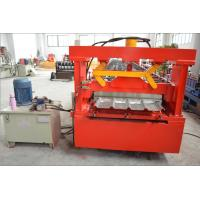 Thick Galvanized Steel Roof Panel Roll Forming Machine with Chain Driving System Manufactures