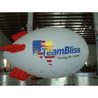 Fireproof 0.18mm Helium PVC Inflatable Zeppelin Airships with  for Celebration Day, Special Events Manufactures