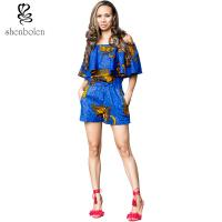 Crop Top African Print Short Jumpsuit / Playsuit Beautiful Ankara Fabric Manufactures